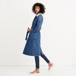 Madewell Sherpa Lined Denim Duster. Never worn.